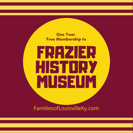 One Year Free Membership to Frazier Museum-Hurry, this expires fast!!