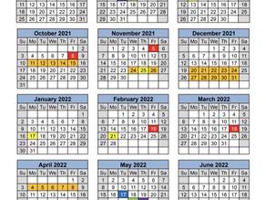 Shelby County Education Calendar 2021-22
