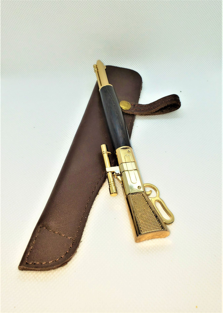 Rifle - Gold w Leather Scabbard