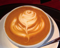 Rose Latte Art