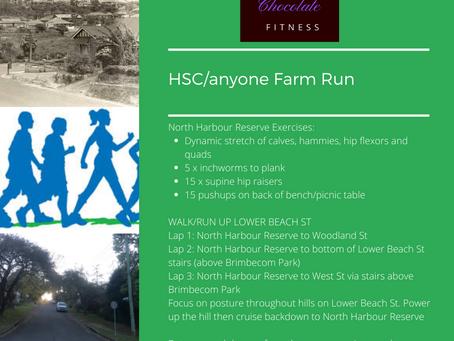 Week 2 HSC (or anyone) Workout