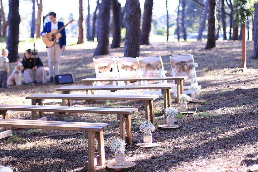 Rustic Brown Wooden Benches (Full Size)