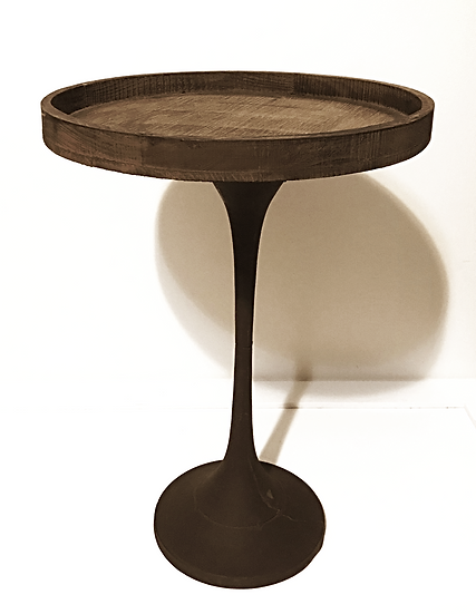 Rustic Tall Pedestal Wooden Cake Stand