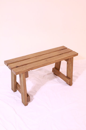 Rustic Brown Wooden Benches (Half-Size)