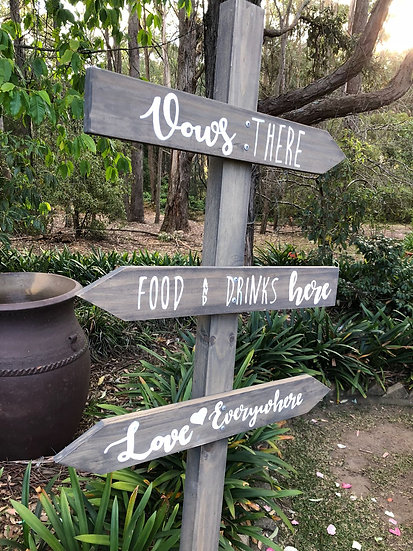 Rustic Wooden Directional Sign Post