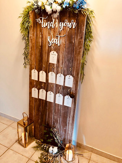 Rustic Barn Door Seating Chart