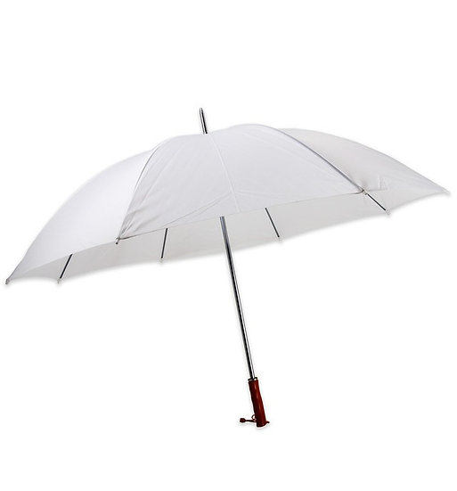 25 x White Wedding Umbrellas with Stand & Signage (For HIRE)