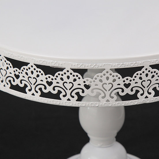 White Metal Lace Dessert Stand - 30cm