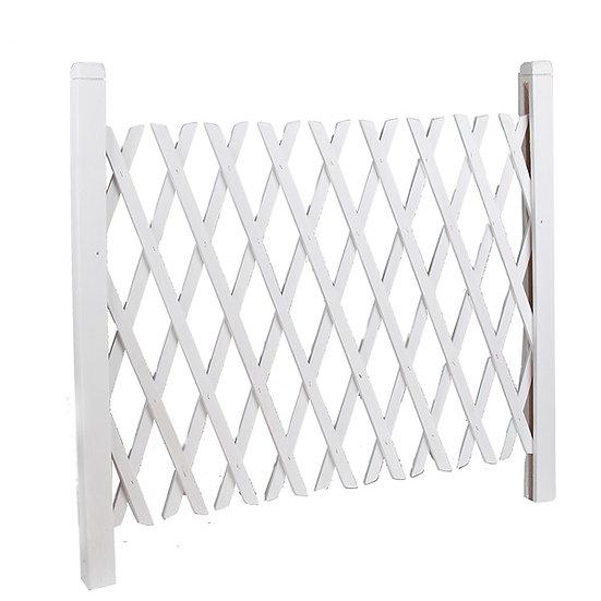 White Wooden Lattice Fence