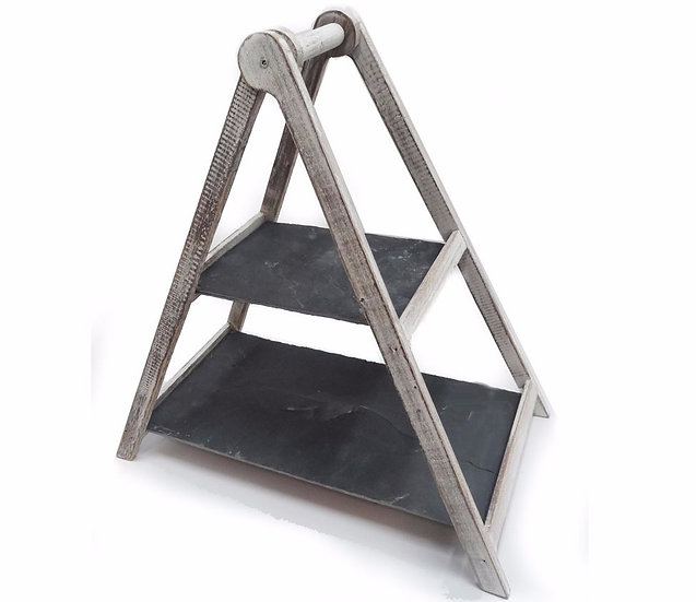 Two Tiered Slate Serving Stand