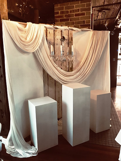 White Wooden Plinths