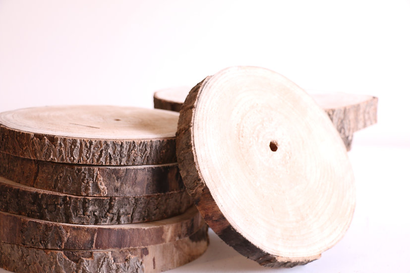 Large Round Wood Slices (Approx. 30cm)