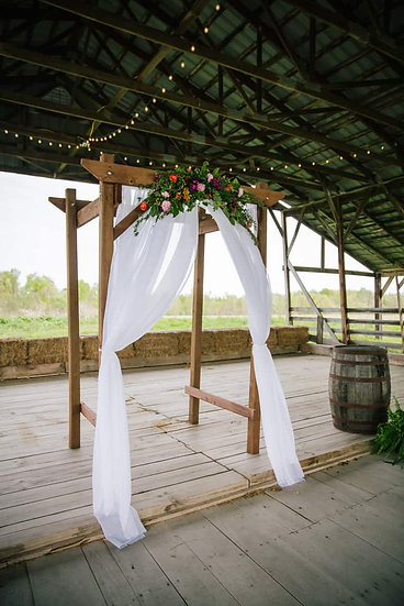Rustic Four Post Wooden Arbor