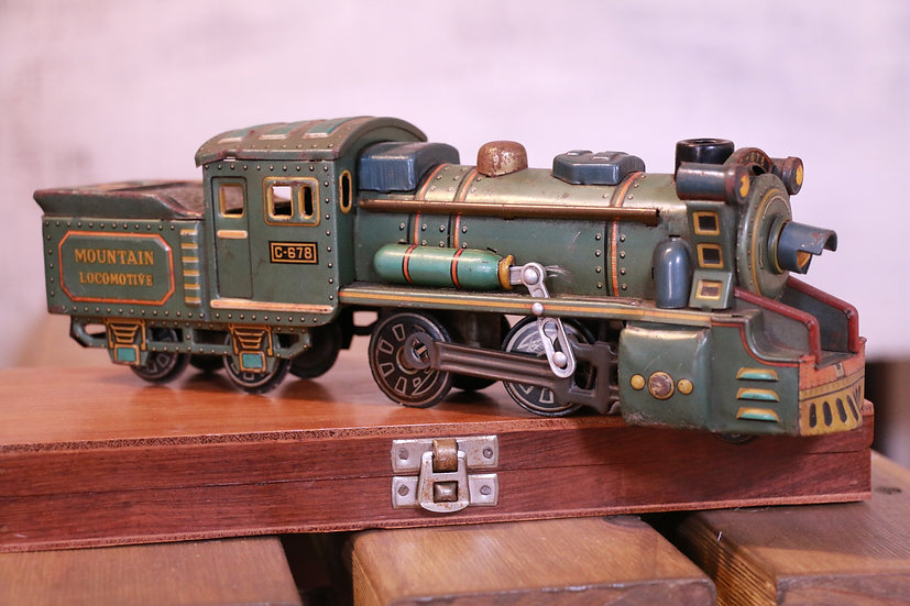 Vintage 1960s Tin Toy Train