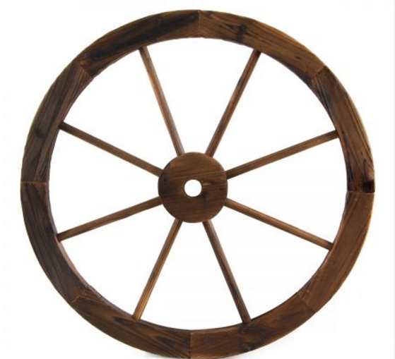 Wooden Wagon Wheel - 60cm