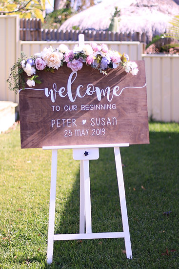 Hand-Crafted Personalised Welcome Sign (For you to keep!)