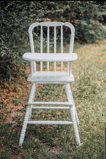 White Vintage High Chair