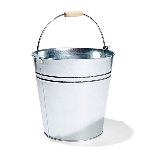 Large 12L Galvanised Metal Bucket