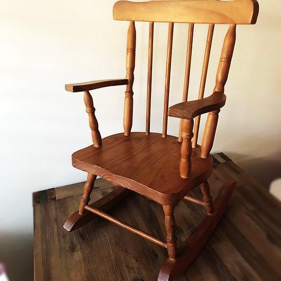 Vintage Wooden Child's Rocking Chair