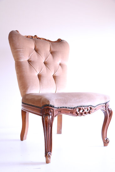 Vintage French Louis XV Gold Ladies Sitting Chair (Small)
