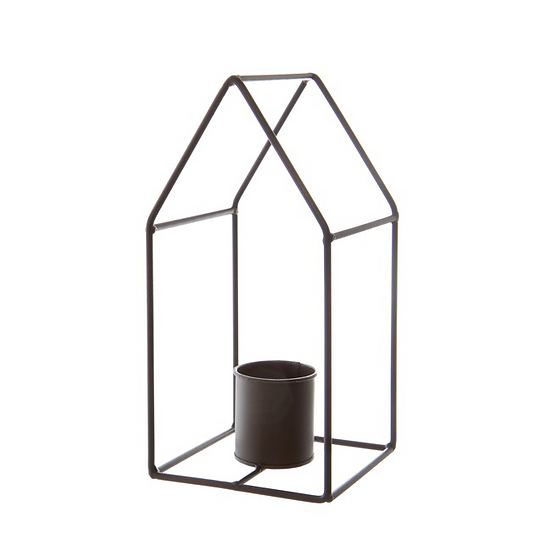 Metal House Candle Holder