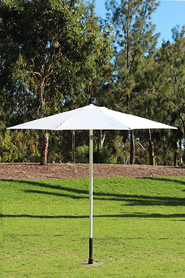 Large 3m White Market Umbrella with Heavy Duty Stand