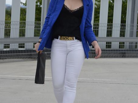 Outfit: Boyfriendblazer und Plateau Sandalen