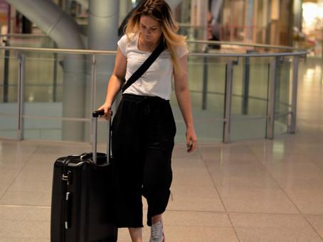Outfit : Travel Look mit schwarzen Culotte