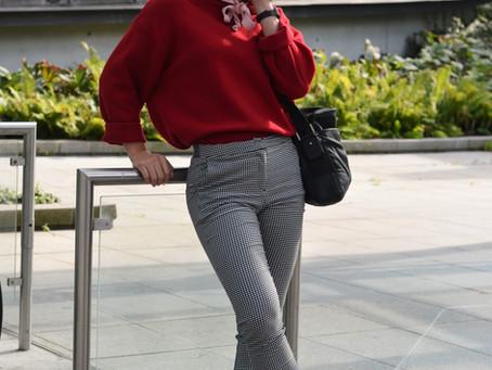 Outfit: Oversize Zara Hoodie mit karierter Chino