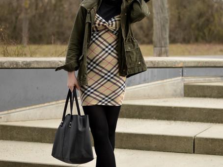 Burberry Dress-Layering Look