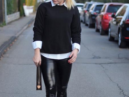 Outfit: Vinyl Leggings und Louis Vuitton Bag