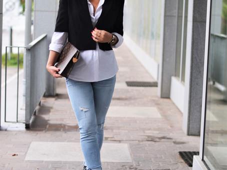 Outfit: Oversize Hemd und kurzer Blazer- neue Zara Teile