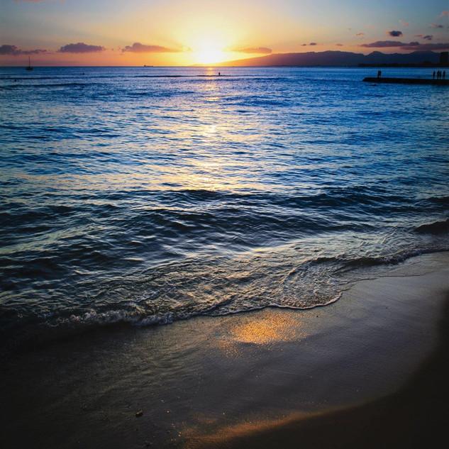 カイルアビーチの夕暮れ