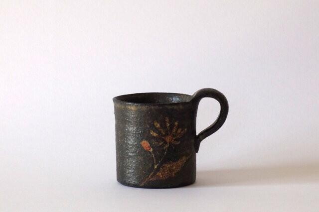 マグカップ(赤絵金彩 野菊)