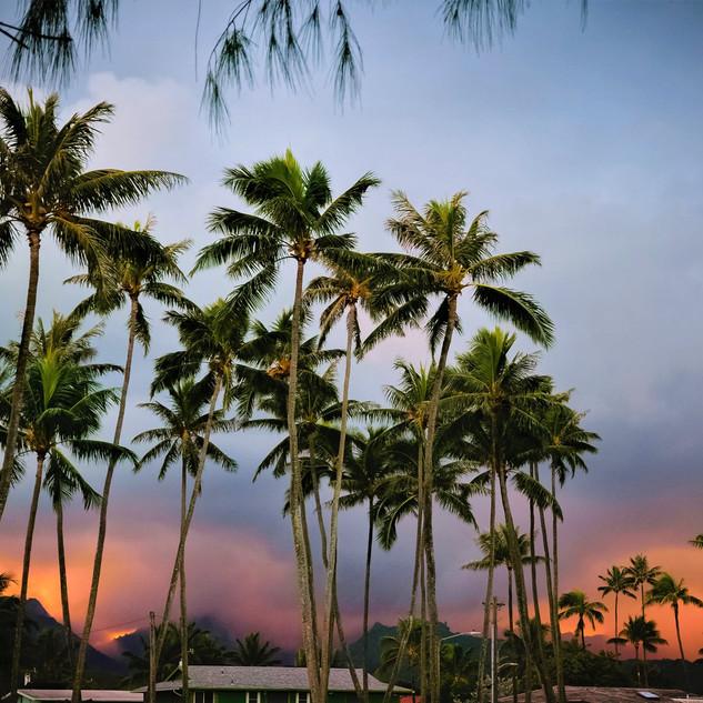 ラニカイビーチの夕日