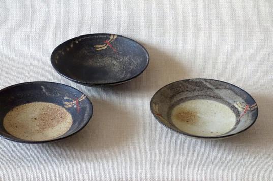 鉢 (赤絵とんぼA)