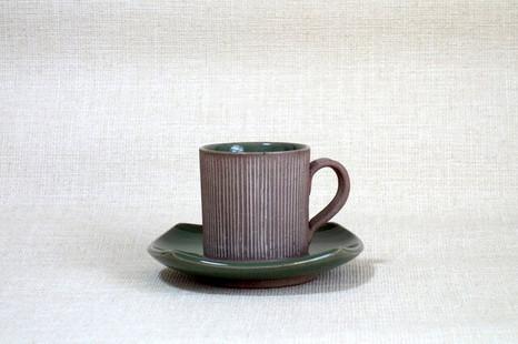 カップ&ソーサー (象嵌青磁釉A)
