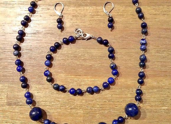 PRODÁNO Lapis lazuli, sada