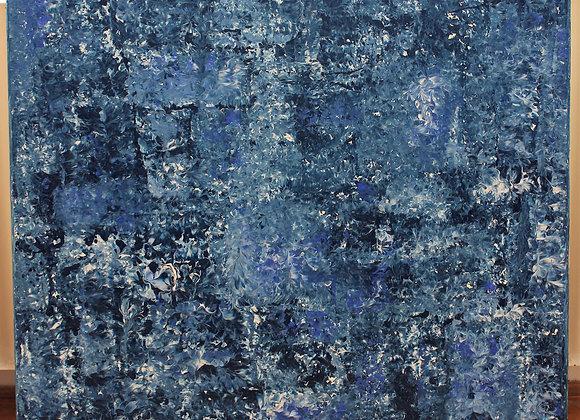 Kompozice - akryl 75 x 70 cm