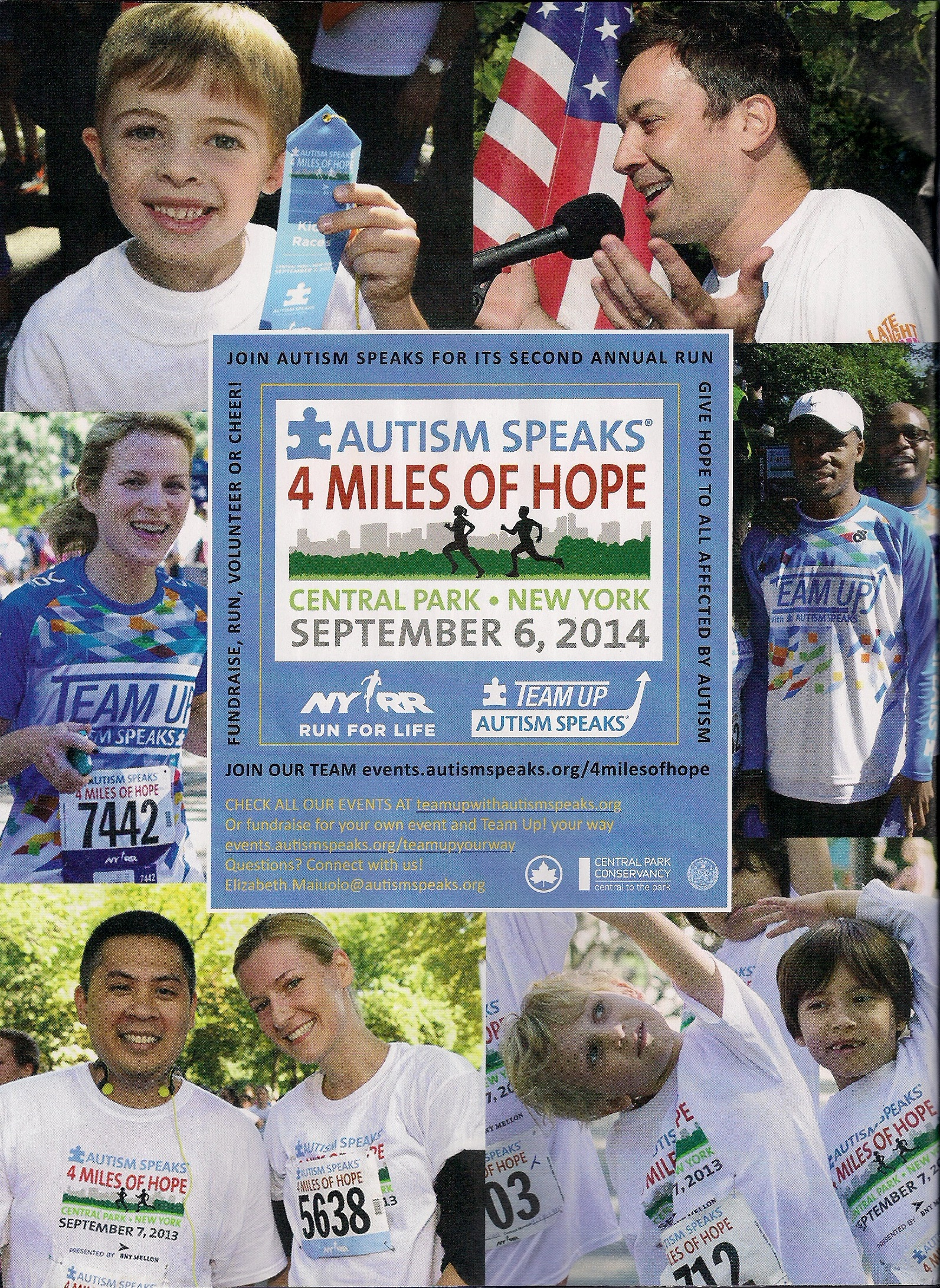 NYRR Magazine Autism Speaks Ad