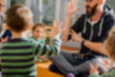 Children and Teacher in Kindergarten