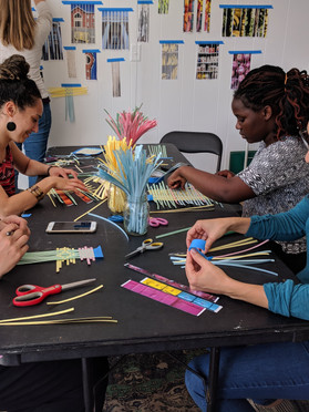 During the residency I invited people to learn how to paper weave as we discussed issues in our neighborhoods. I also hosted field trips from an elementary school in the same neighborhood as Sulfur Studios and a class from Savannah College of Art and Design.