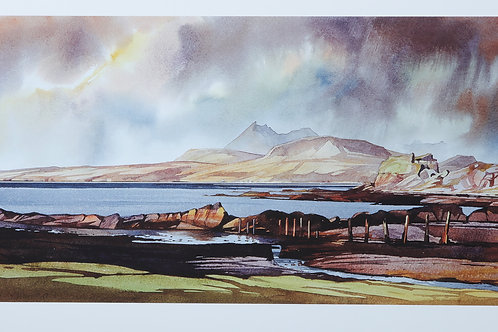 Clearing from the west - Dunscaith Castle - Skye