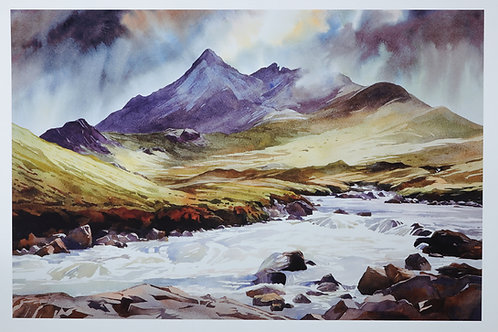 Rain, easing in the West by evening - the Black Cuillin - Skye