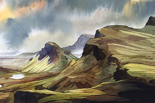 A blustery spring day - the Quiraing - Isle of Skye