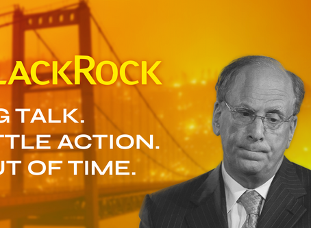 Despite big climate promises, BlackRock shielded fossil fuel executives from accountability in 2020