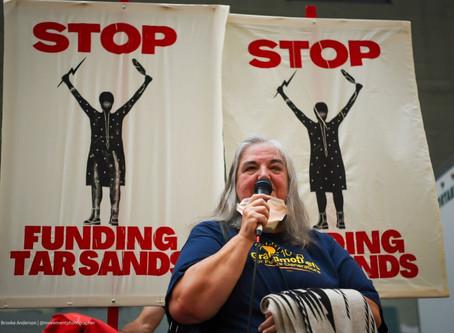 Stop the Money Pipeline: Activists target BlackRock for funding tar sands pipelines
