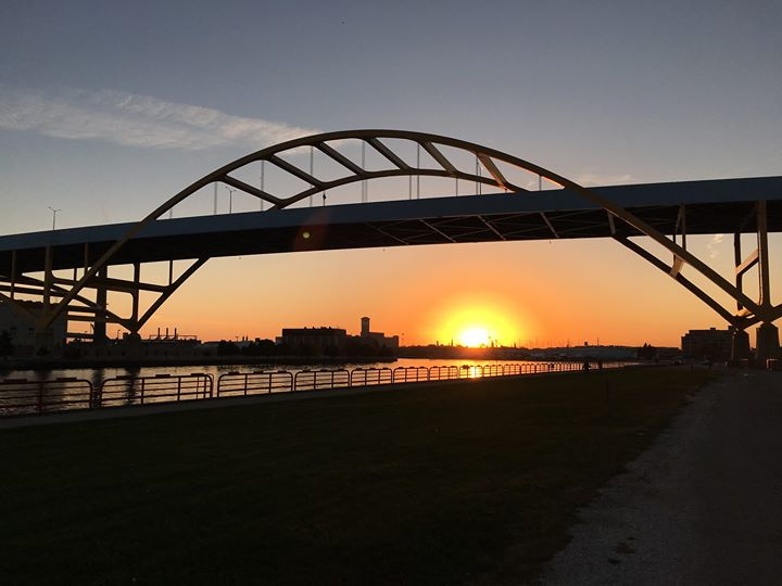 Hoan Bridge at Sunset