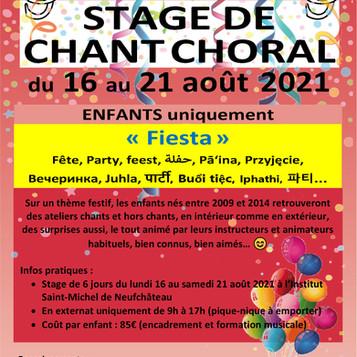 La Semaine Chantante 2021 pour les enfants, c'est parti !