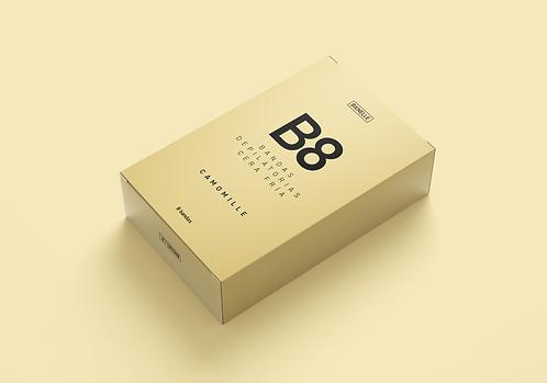 B8 Camomille Bandas depilatorias cera fría
